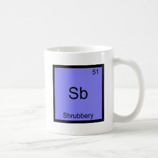 Sb - Shrubbery Funny Chemistry Element Symbol Tee Basic White Mug