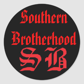 SB Sticker, SouthernBrotherhood Round Sticker
