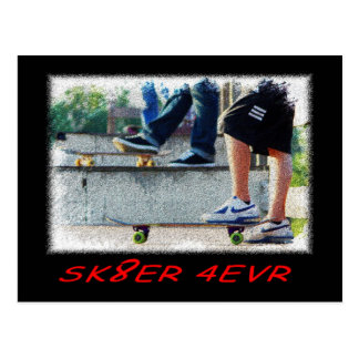 SBA103.SK8ER 4EVR. POSTCARD