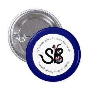 SBM Patriotic Social Animal Logo Mini Button Pin