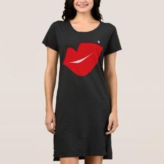 SBM Signature Red Lips T-Shirt Dress
