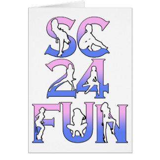 SC24FUN LOGO ROWS 1 copy Greeting Card