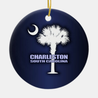 SC Palmetto & Crescent (Charleston) Christmas Ornament
