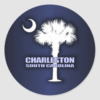 SC Palmetto & Crescent (Charleston) Classic Round Sticker