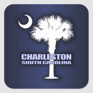SC Palmetto & Crescent (Charleston) Square Sticker