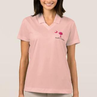 SC Pink Logo Women's Nike Dri-FIT Polo Shirt, Pink