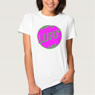SC Pink Lurk White Womens Tshirt Front Logo