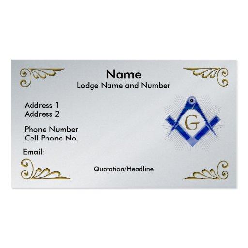Masonary Business Card Designs