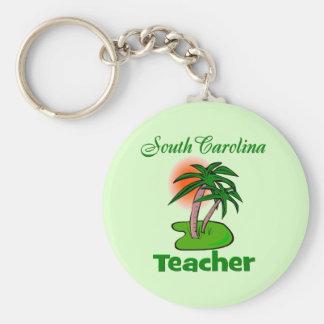 SC Teacher Basic Round Button Key Ring