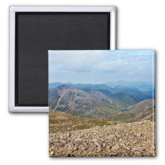 Scafell Pike, England Square Magnet