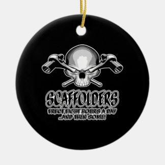 Scaffolder Skull: Scaffolding Humor Christmas Ornament
