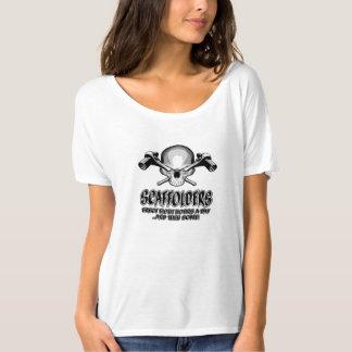 Scaffolder Skull: Scaffolding Humor T-Shirt
