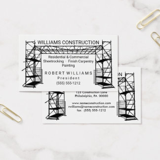 Scaffolding Black | White Painting | Construction Business Card