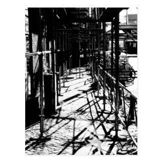 Scaffolding shadows postcard