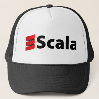 Scala Hat, Black Logo Trucker Hat