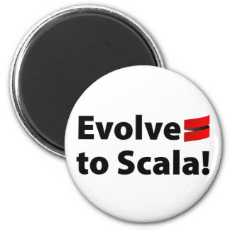 Scala Magnet, Evolve Logo 6 Cm Round Magnet