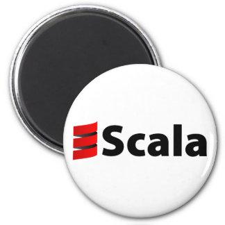 Scala Magnet, Scala Logo 6 Cm Round Magnet