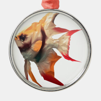 Scalar Fish Christmas Ornament