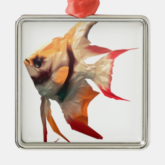Scalar Fish Christmas Ornament