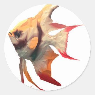 Scalar Fish Classic Round Sticker