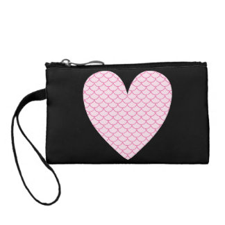 Scale Heart Key Coin Clutch