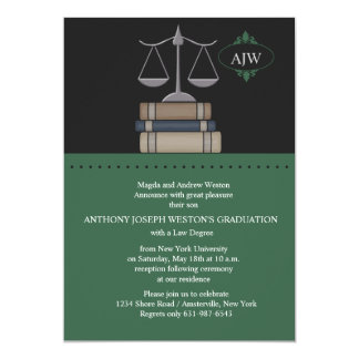Scale of Justice Green, Law School Invitation