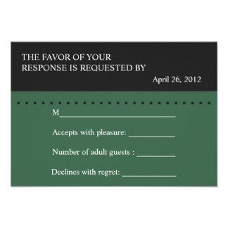 Scale of Justice Green Law School RSVP card Personalized Invitation
