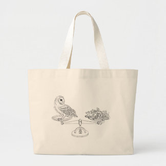 Scale with Barn owl and mice Jumbo Tote Bag