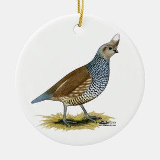 Scaled Quail Christmas Ornament