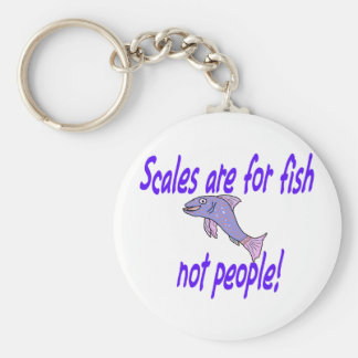 Scales are for fish basic round button key ring