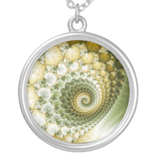 Scales Fractal Art Silver Plated Necklace