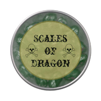 Scales Of Dragon Halloween Candy Bar Party Treats Candy Tin