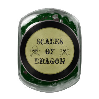 Scales Of Dragon Halloween Candy Bar Party Treats Glass Candy Jar