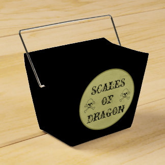 Scales Of Dragon Label Halloween Potions Spells Party Favor Box