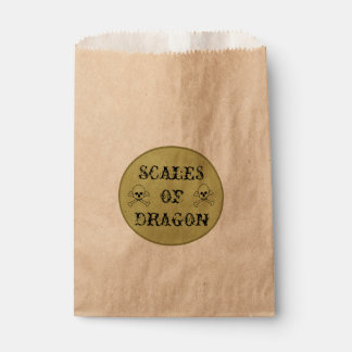 Scales Of Dragon Witch's Potion Label Favour Bags