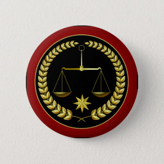 Scales of Justice 6 Cm Round Badge