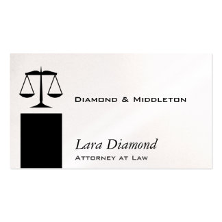 Scales of Justice Black Stand Double-Sided Standard Business Cards (Pack Of 100)