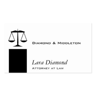 Scales of Justice Black Stand Business Card Templates