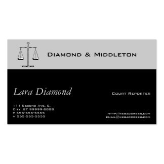 Scales of Justice Business Card Template