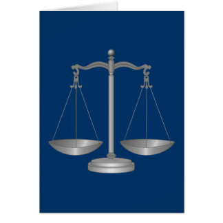 Scales of Justice Card