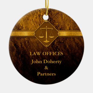 Scales of Justice Christmas Ornament