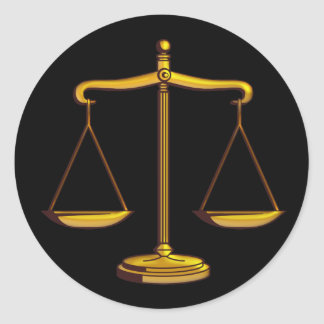 Scales of Justice | Classic Round Sticker
