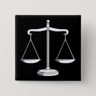 Scales of Justice | Classy 15 Cm Square Badge
