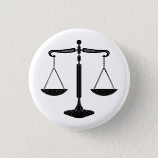 Scales of Justice | Classy 3 Cm Round Badge