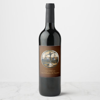 Scales of Justice | Elegant Wine Label