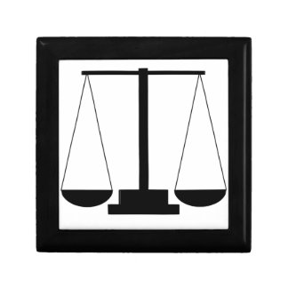 Scales of justice gift box
