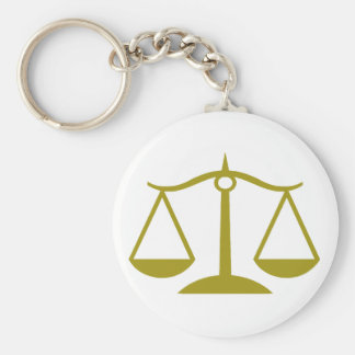 Scales of Justice - Gold Key Ring