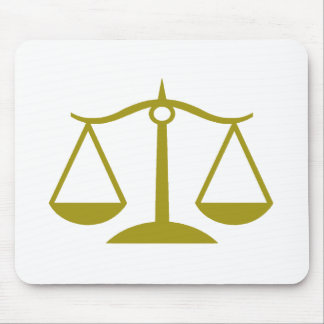 Scales of Justice - Gold Mouse Mat