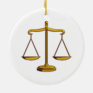 Scales of Justice | Law Gifts Christmas Ornament