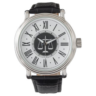 Scales of Justice | Law Gifts Wrist Watch